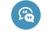 Testimonials icon - chat bubbles