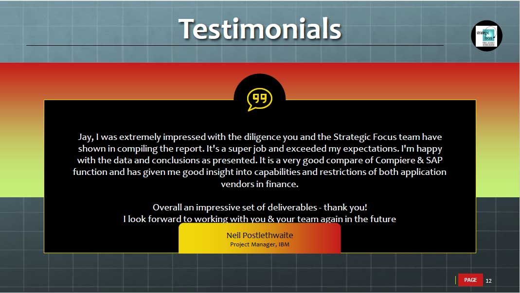 Testimonials for software testing