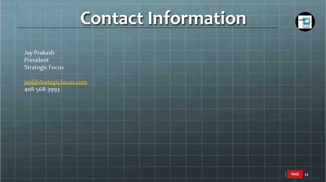 slide for jay prakash contact information
