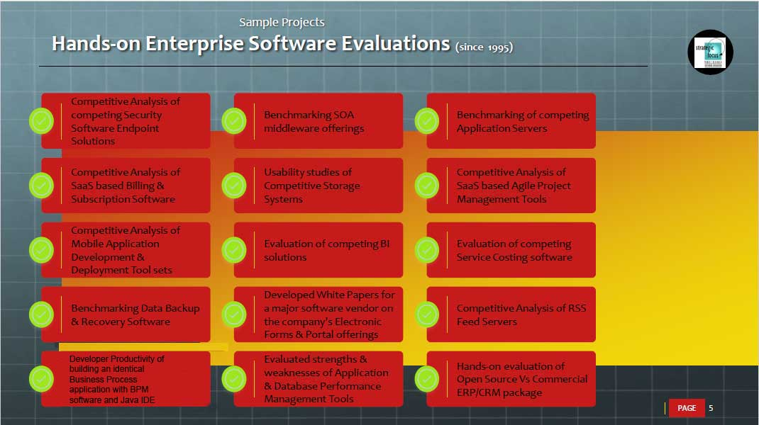 hands on enterprise software evaluations for benchmarking software