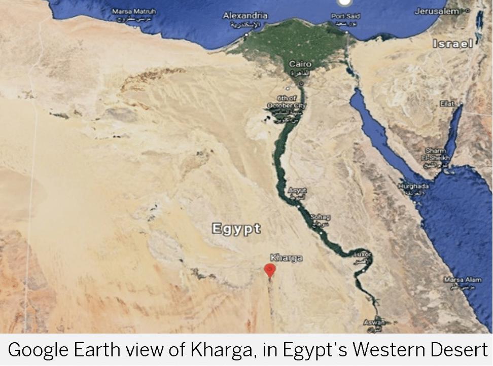 Google Earth view of Kharga